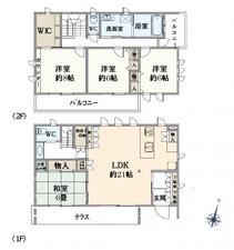 練馬区石神井町2丁目 13,480万円